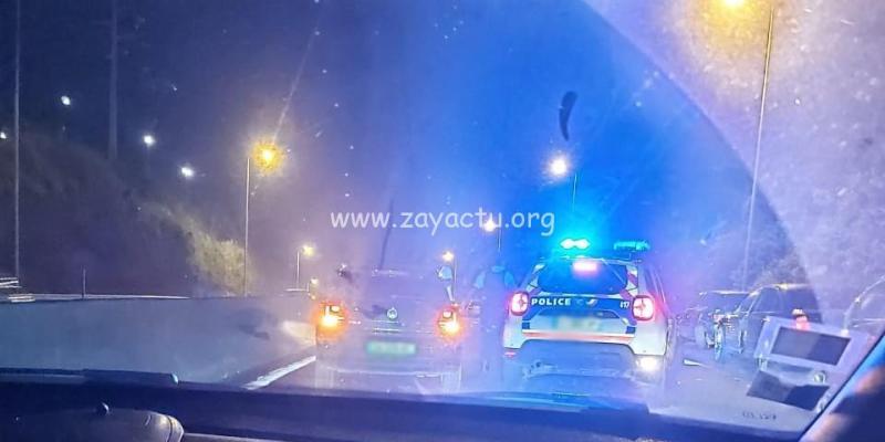 Accident de moto sur l'autoroute. Photo : réseaux sociaux.