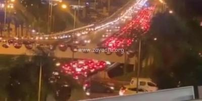 Accident sur l'autoroute à proximité du pont de la Galleria