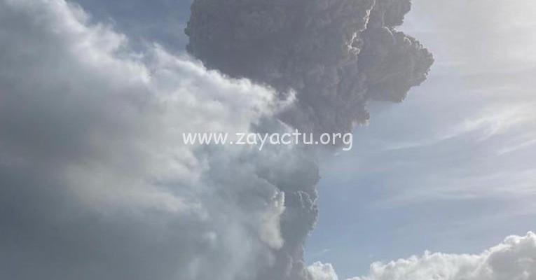 Le volcan la Soufrière à Saint-Vincent. Photo : UWI Seismic Research Centre