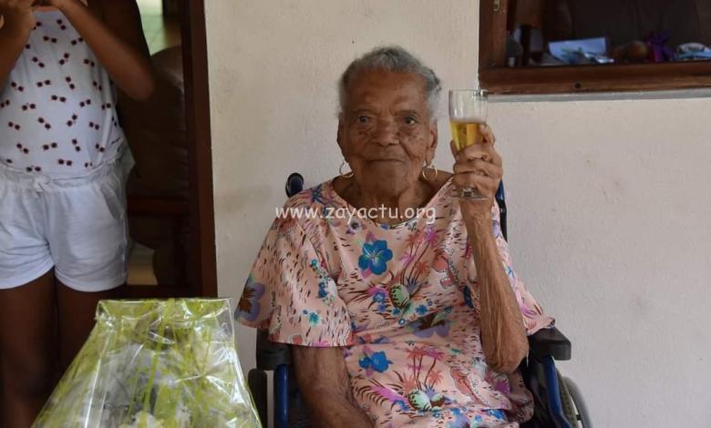 Madame Rosier-Coco Mathurine Célestine a fêté ses 107, ce mardi 6 avril