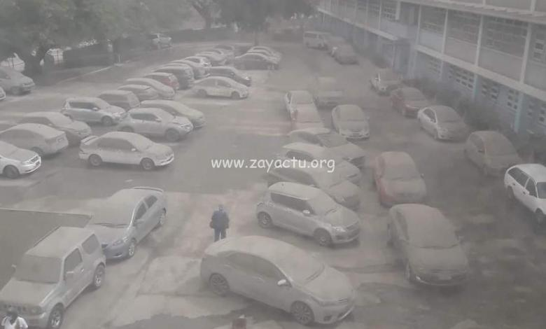 Parking du Queen Élisabeth Hospital à Bridgetown à Barbade.