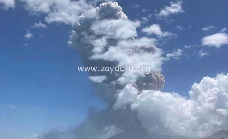 explosion la Soufrière Saint-Vincent jeudi 22 avril