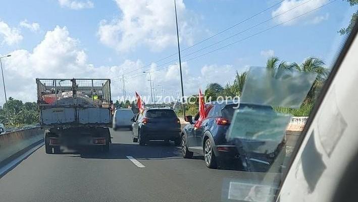 Opération molokoy sur l'autoroute. Photo : réseaux sociaux.