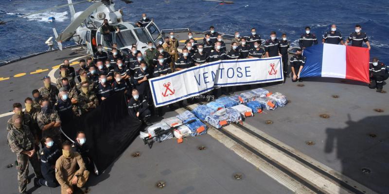 Le Ventôse saisit 550 kilos de cocaïne au large de la République Dominicaine