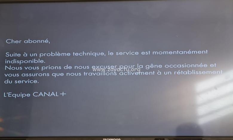 Message diffusé par CanalSat. ©ZayActu