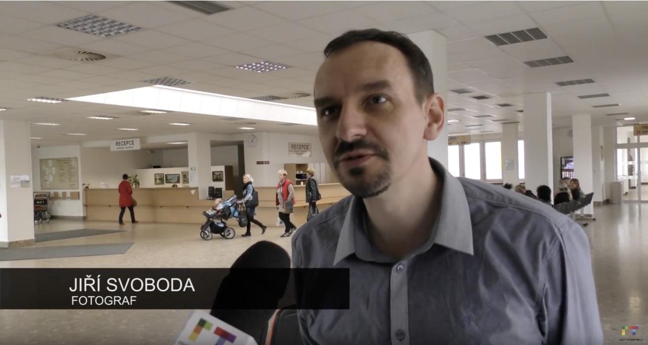 Jiří Svoboda – TV reportáž o výstavě České středohoří v Litoměřické nemocnici