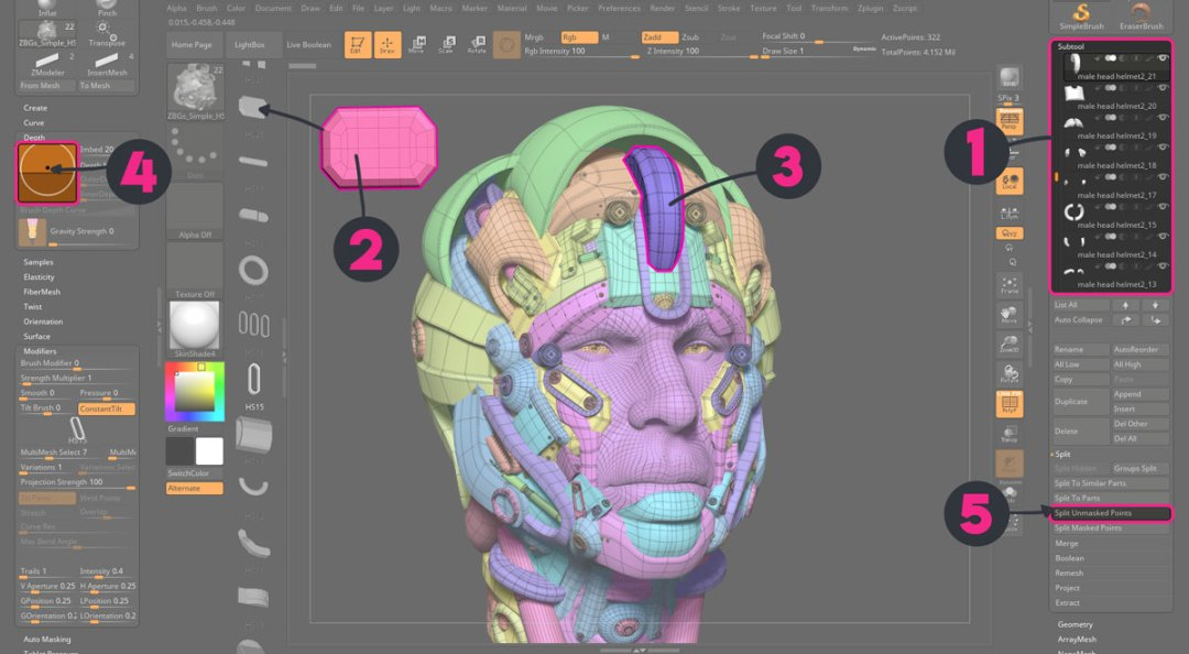 Organic HARD SURFACE modeling technique | ZBrush Guides
