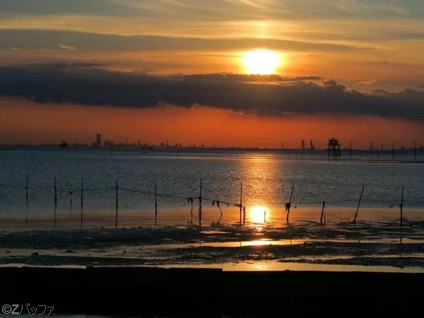 江川海岸の夕日