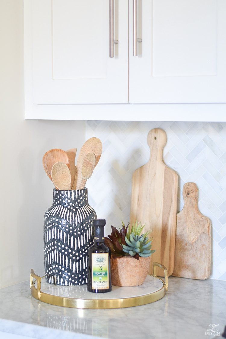 9 Simple Tips for Styling Your Kitchen Counters | ZDesign ... on Counter Decor  id=97148
