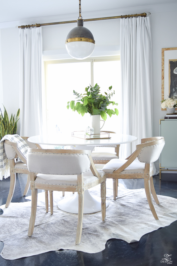 Transitioning Into Fall Home Tour   ZDesign At Home on Farmhouse:-Cra1Rtrksu= Dining Room Curtains  id=58435