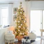 Black White Gold Modern Christmas Living Room Tour Zdesign At Home