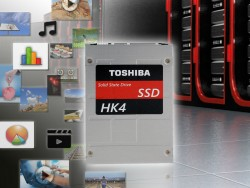 the series HK4E and HK4R use as first enterprise SSD by Toshiba in the 15-nanometer process produced MLC NAND Flash memory (image: Toshiba).