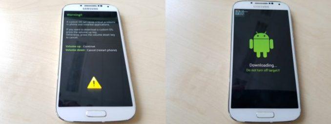 02_Samsung_Galaxy_S4_GT_I9505_jfltexx-download mode (image: ZDNet.de)