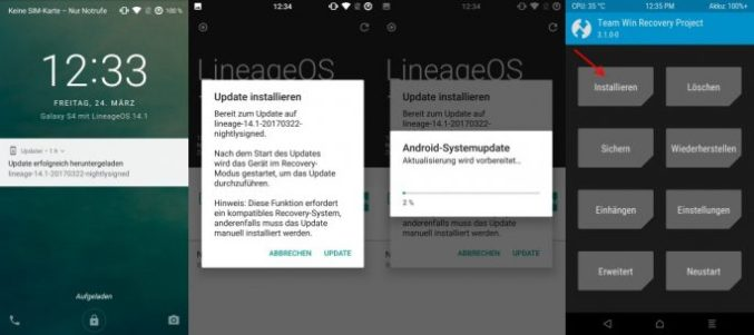 LineageOS: update manually (image: ZDNet.de)