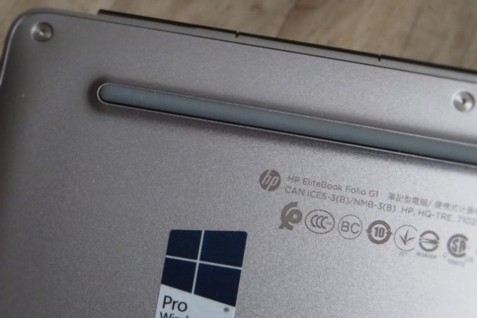 even the underside of the Elitebook Folio G1 is nice to look at. (Photo: Mehmet Toprak)