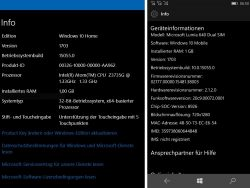 the build 15055 referred to Microsoft as version 1703, which indicates a publication of the creators update in the March 2017 (screenshot: ZDNet.de).