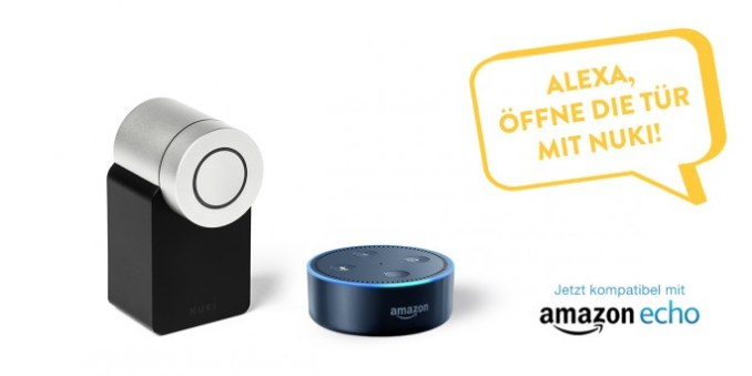 available now can smart lock also about Amazon Alexa be controlled (image: Nuki home solutions)