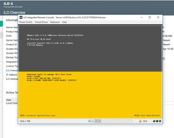 for vSphere on screen can install, or be adapted with iLO (screenshot: Thomas Joos).