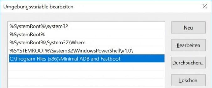 path extend (screenshot: ZDNet.de)