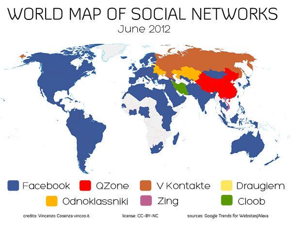 Réseaux sociaux dans le monde 2012 : quelle est la situation ?