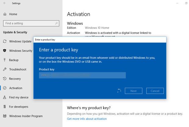 Clés d'Activation Windows 10 Pro