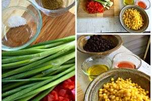 Memorial Day fun with black bean and corn salsa