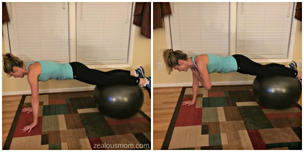 Try these 10 stability ball moves to tone your entire body. #fitness #workout #exercise @zealousmom.com