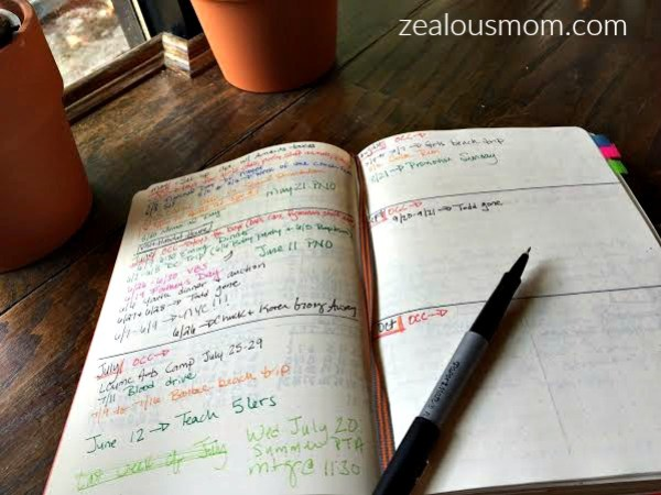 Lessons Learned From My First Bullet Journal zealousmom.com