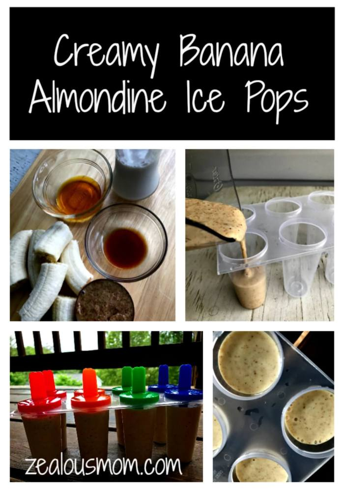 Looking for a yummy creamy banana ice pop recipe? Look no further. Thsi one is extremly scrumptious and gluten-free to boot. Enjoy! @zealousmom.com