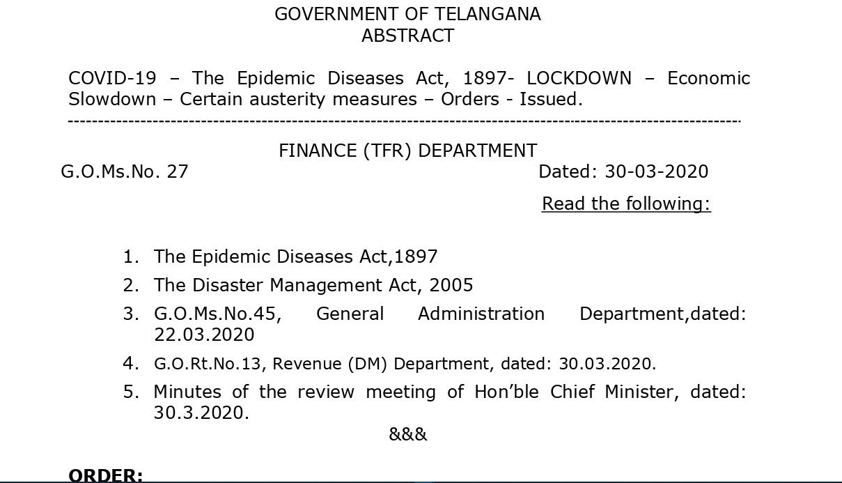 Telangana Govt Decided To Cut salaries across various categories