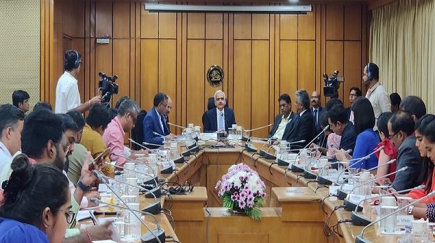 RBI Governor address the media