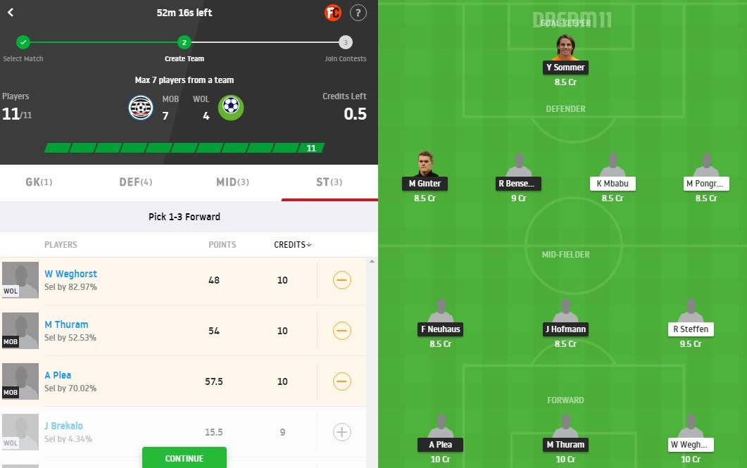 MOB vs WOL Dream11 Prediction