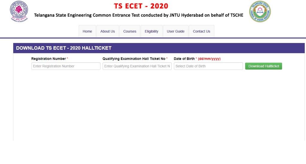 TS ECET Hall Ticket 2020