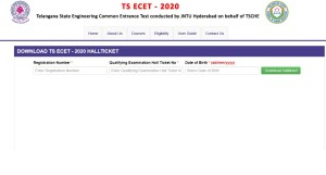 TS ECET Hall Ticket 2020 released. Visit ecet.tsche.ac.in print hall ticket