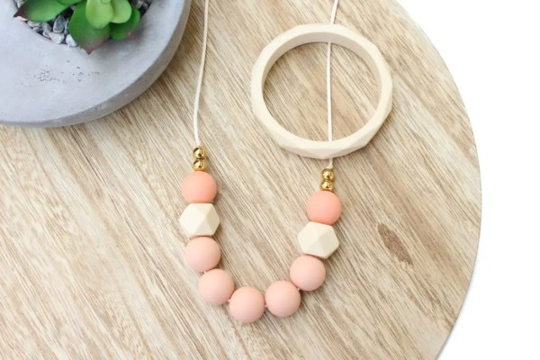 Peach Silicone Necklace