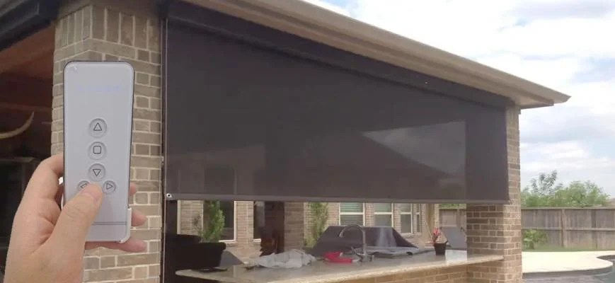 outdoor electric blinds and shades to
