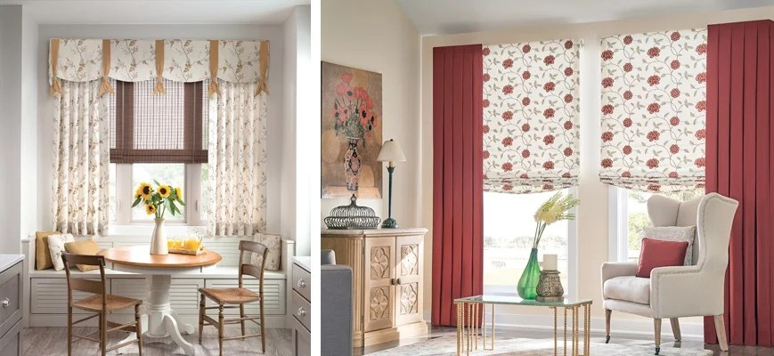 with curtains and blinds together