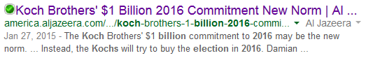 Al Jazeera Koch $1 billion