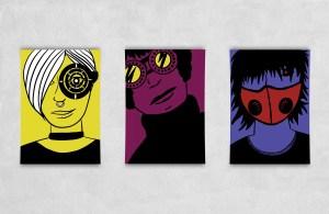 Plakat, Futur Bitchez Vol 1-3, poster, Kreatywna Freelancerka, mockup plakatu, seria plakatów