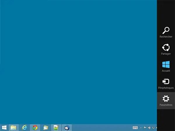 Barre des charmes Windows 8