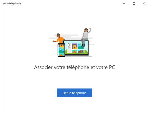 Association du téléphone et du PC