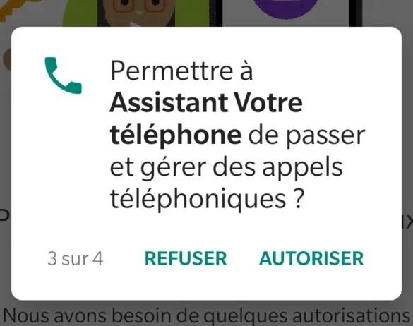 Autorisation appels téléphoniques