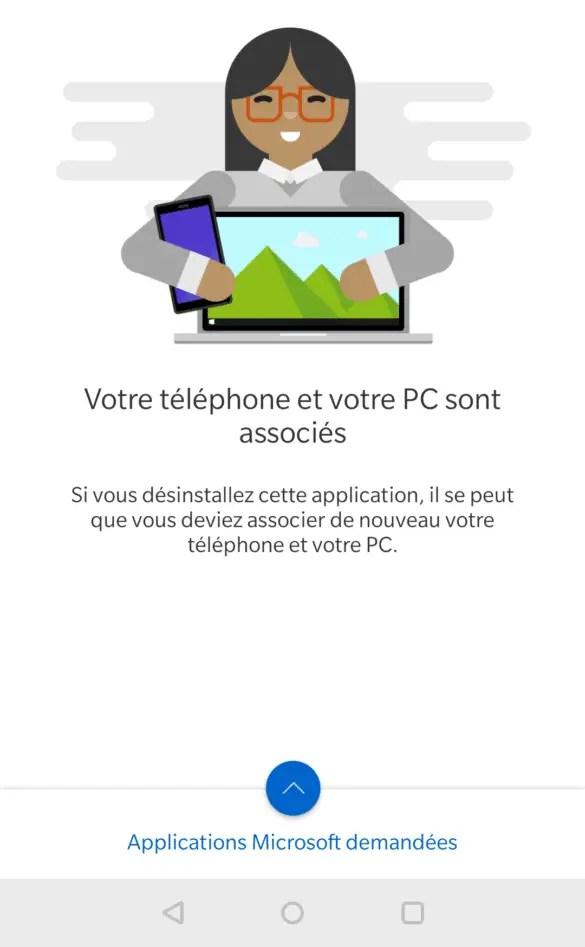 Téléphone et PC associés