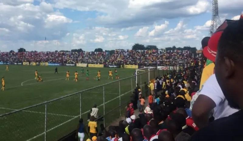 Power Dynamos against Zesco United during the mtn faz 2016 season