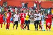 A small disturbance during the Nkana and Zanaco tensioned game