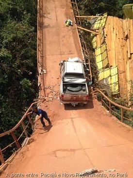 A ponte liga os municípios de Pacajá e Novo Repartimento, no Pará