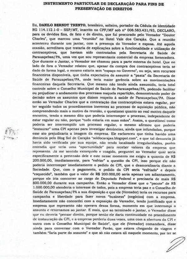Denúncia pagina 1