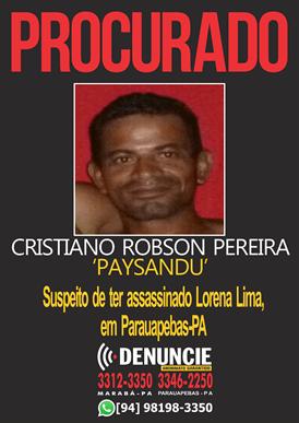CARTAZ PROCURADOS_suspeito matador de Lorena Lima_ Parauapebas_22.09(1)
