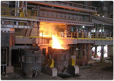 Fornos elétricos para produção da liga de ferroníquel em Onça Puma - Crédito - Vale