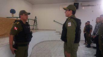 Coronel Mauro Sérgio e tenente-coronel Valinoto
